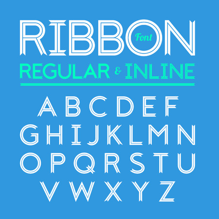 inline: Ribbon font, regular and inline version of typeface
