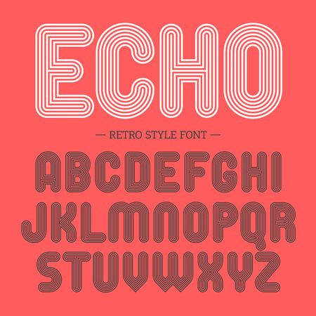 font: La fuente de estilo retro, alfabeto