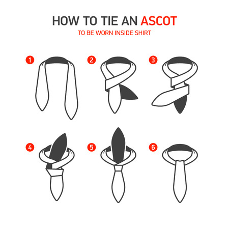 ascot: How to Tie an Ascot instructions Illustration