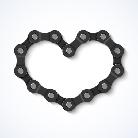 biking: Bike chain heart