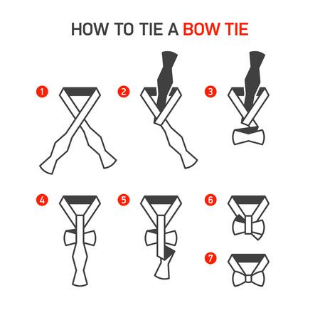 Hoe maak je een strikje instructies Bind Stock Illustratie