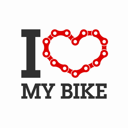 bicycling: I love my bike poster or t-shirt print element