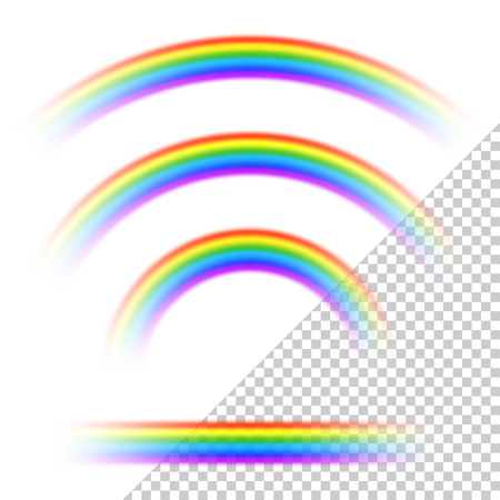 Transparent rainbows collection