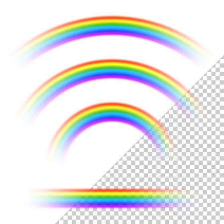 arcoiris caricatura: colección de arco iris transparente