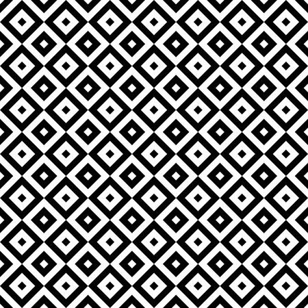 Zwarte en witte geometrische naadloze patroon Stock Illustratie