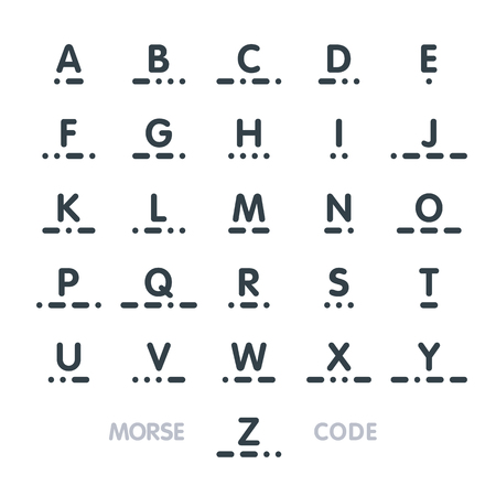 secret code: Morse code, alphabet