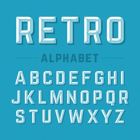 bevel: Retro style alphabet Illustration