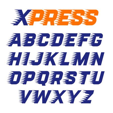 익스프레스 서비스 글꼴 일러스트