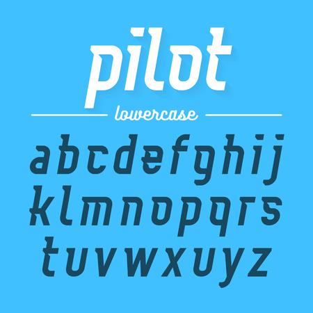 Pilot, moderne Schriftart Kleinbuchstaben