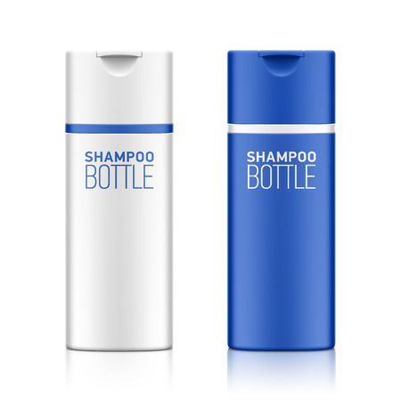 cosmetic bottle: Shampoo  cosmetic bottle template for your design Illustration