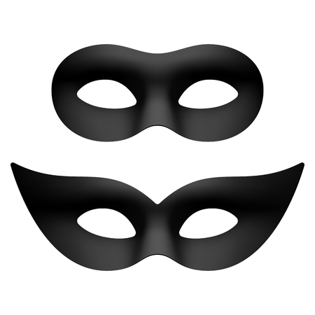 masquerade masks: Black masquerade eye masks