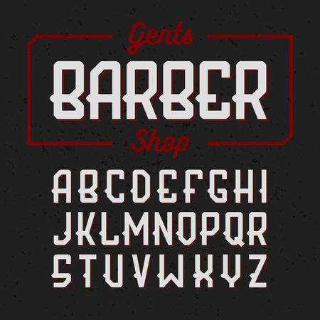 Gentlemans Barber Shop vintage style font