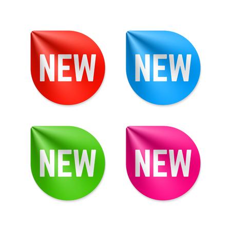 新しいラベル  イラスト・ベクター素材