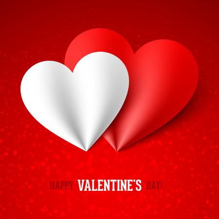 fondo para tarjetas: Tarjeta feliz del d�a de San Valent�n Vectores