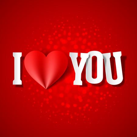 Ich liebe dich, Valentinstag-Karte
