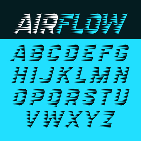 alfabeto flujo de aire Ilustración de vector
