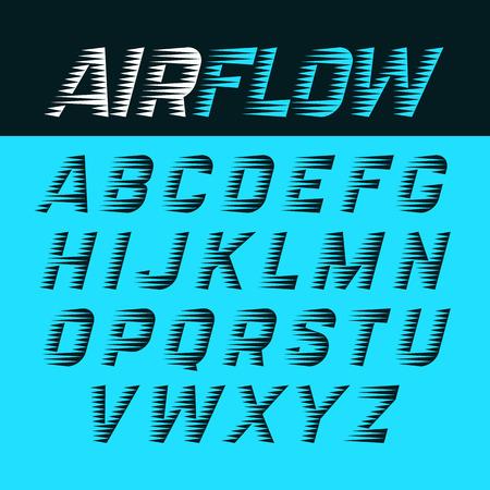 il flusso d'aria alfabeto Vettoriali