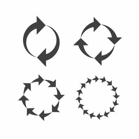 rotation: Rotation, reload, refresh, circle, cycle arrow signs Illustration