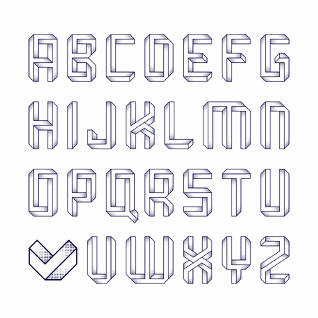 illusions: Impossible shape font