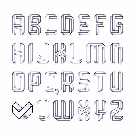 illusion: Impossible shape font