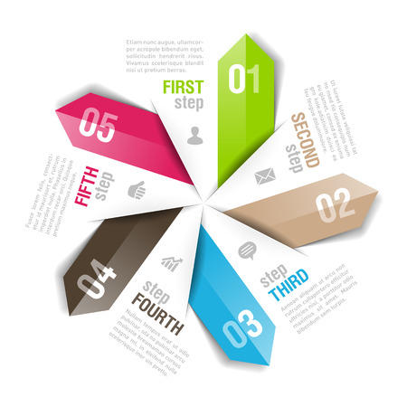 consecutive: Infographics template. Fully editable illustration.