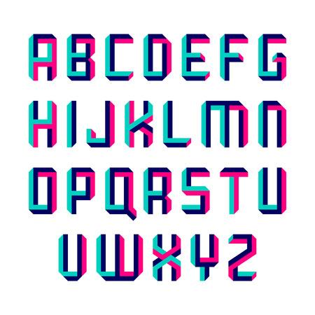 ilustración de letra forma imposible