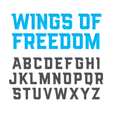 avia: Wings Of Freedom modern style uppercase font