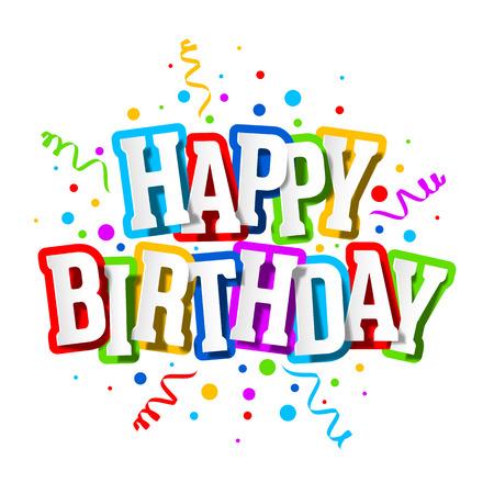 Z okazji urodzin karty z pozdrowieniami Ilustracje wektorowe