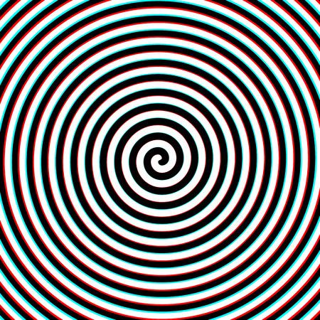 3d effect hypnosis spiral 일러스트
