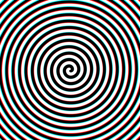 3d effect hypnosis spiral Vettoriali