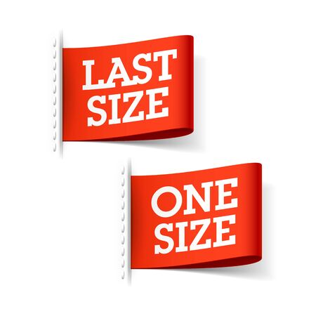 Last Size and One Size clothing labels
