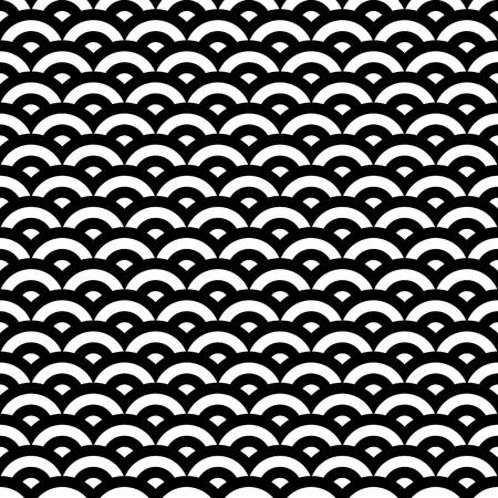 black snake: Black and white retro style pattern, seamless illustration Illustration