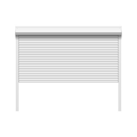 rolling garage door: Garage door with rolling shutters