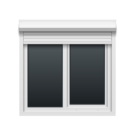 security shutters: Window with rolling shutters