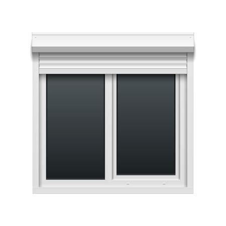 roller shutters: Window with rolling shutters