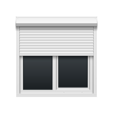 aluminum: Window with rolling shutters
