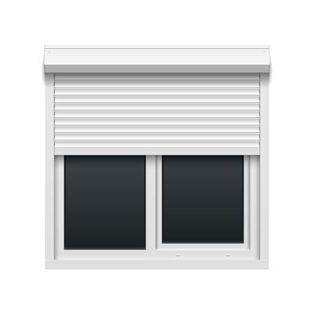 shutters: Window with rolling shutters