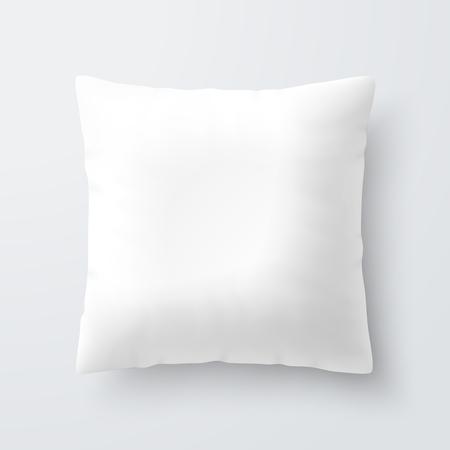 objetos cuadrados: amortiguador de la almohadilla cuadrada blanca en blanco