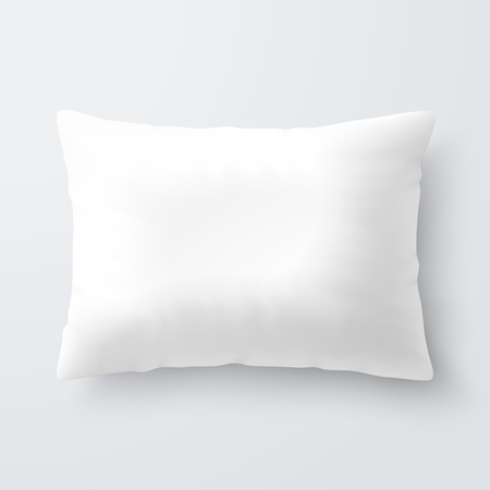 Blank white rectangular pillow cushion
