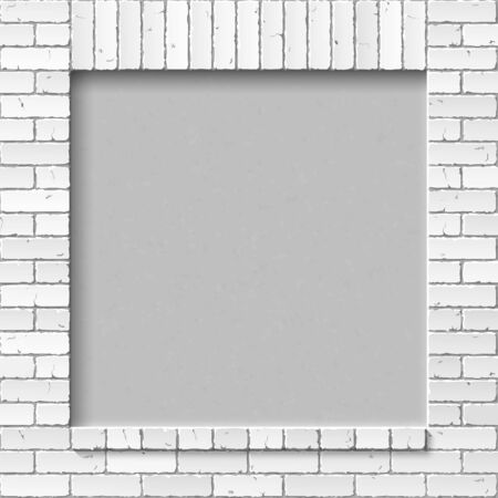 white wall: brick wall Illustration