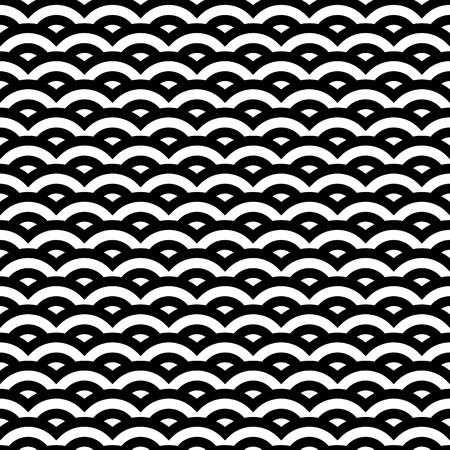 reptile skin: Black and white retro style pattern, seamless illustration Illustration