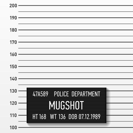 Mugshot de police. Ajouter une photo.