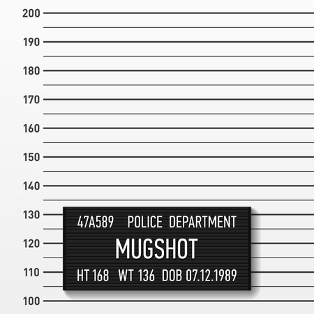 height chart: Police mugshot. Add a photo.