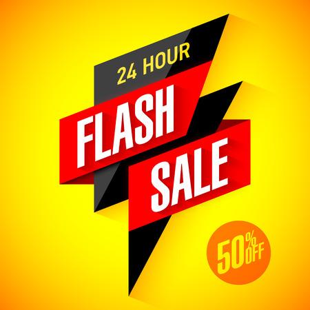24 時間販売のフラッシュ バナー  イラスト・ベクター素材