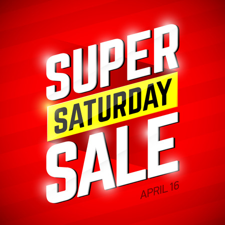 Super Saturday Sale banner. One day deal, special offer, big sale, clearance Фото со стока - 55659315