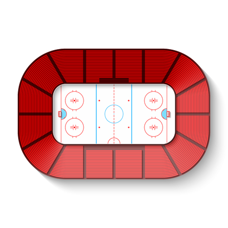 ice surface: Hockey arena, top view