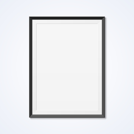 blank poster: Blank frame on a wall Illustration