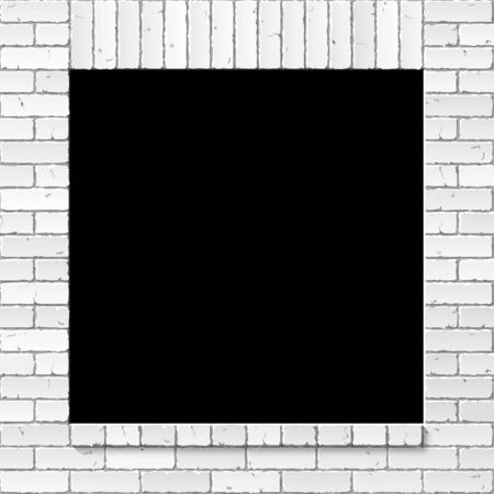 Brick wall with window opening