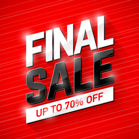 Final Sale banner. Special offer, big sale, clearance