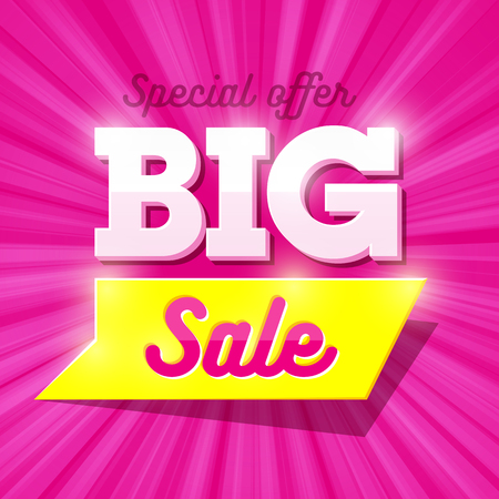 Big Sale special offer banner